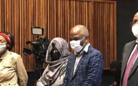 Former senior government officials appearing at the Ridge Magistrates Court on 22 October 2020 after they were arrested for alleged tender irregularities committed at the Gauteng Department of Health in 2007. Picture: Nthakoana Ngatane/EWN