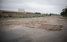 Potholes in Mahikeng. Picture: Abigail Javier/Eyewitness News