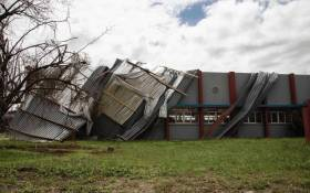 The University in Beira is closed after sever damage to the building, caused by Cyclone Idai.  Picture: Christa Eybers/EWN.