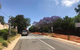 The scene outside Sandown High School where three suspects were arrested after an attempted hijacking on 15 October 2018. Picture: Christa Eybers/EWN