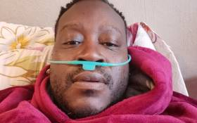 Mpho Lakaje on his bed during his COVID-19 recovery. Picture: Supplied