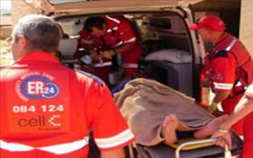 FILE: Paramedics immobilised and treated both patients, providing them with advanced life support interventions. Picture: www.er24.co.za