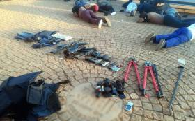 Police arrested several people and over 25 firearms were seized during the hostage incident at the International Pentecost Holiness Church in Zuurbekom on 11 July 2020. Picture: SAPS.
