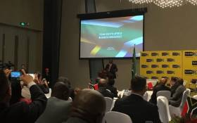 President Cyril Ramaphosa addresses a business breakfast in Beijing with business leaders. Picture: Clement Manyathela/EWN.