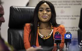 Cheryl Zondi, who has accused Nigerian televangelist Timothy Omotoso of rape, at the launch of her own foundation on 4 December 2018. Picture: Abigail Javier/EWN