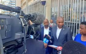 DA leader Mmusi Maimane speaking outside the Johannesburg central police station where he handed over a memorandum of grievances to the South African Police Service (SAPS) on Tuesday, 10 September 2019. Picture: @Our_DA/Twitter