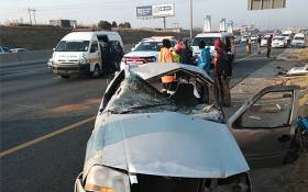 About 27 people were injured after a road accident involving a bakkie in Randburg on Saturday 4 August 2018. Picture: ER24