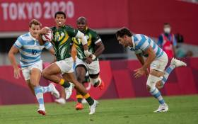 Argentina defeated the Blitzboks in their Olympic Sevens quarterfinal match on 27 July 2021. Picture: Anton Geyser/SASPA/SASI