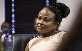 Public Protector Busisiwe Mhkwebane  at the launch of her own foundation. Picture: Abigail Javier/EWN