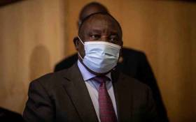 ANC president Cyril Ramaphosa arrives at the state capture commission of inquiry on 29 April 2021 for his second day on the witness stand. Picture: Abigail Javier/Eyewitness News