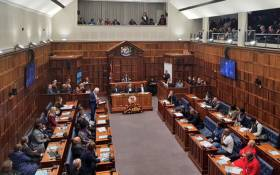 Western Cape Premier Alan Winde delivers his State of the Province Address in the provincial legislature on 18 July 2019. Picture: @alanwinde/Twitter