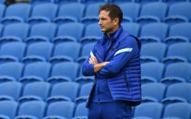 Chelsea head coach Frank Lampard looks on during the pre-season friendly football match between Brighton and Hove Albion and Chelsea at the American Express Community Stadium in Brighton, southern England on 29 August 2020. Picture: AFP