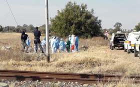 Police in Orkney, near Klerksdorp, made a shocking discovery after the bodies of 20 unidentified men suspected to be illegal miners were found over two days. Picture: SAPS.
