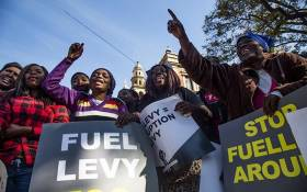 FILE: Members from various political organisations picket outside National Treasury's offices against the price of fuel. Picture: Kayleen Morgan/EWN