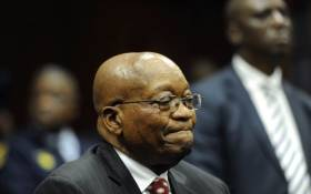 FILE: Former South African President Jacob Zuma in the Durban High Court on 8 June 2018. He is charged with 16 counts that include fraud' corruption and racketeering. Picture: Felix Dlangamandla /Pool