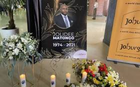The funeral service for the late City of Joburg mayor Jolidee Matongo took place at the Finetown Hall in Johannesburg on 24 September 2021. Picture: @CityofJoburgZA/Twitter