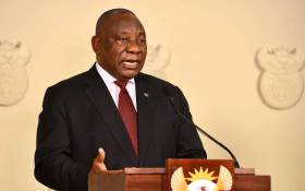 FILE: President Cyril Ramaphosa addresses the nation on the coronavirus measures on 13 May 2020. Picture: GCIS.