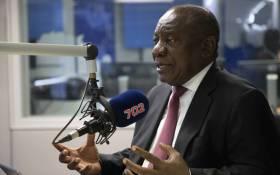President Cyril Ramaphosa in conversation with Radio 702's Xolani Gwala on 13 December 2018. Picture: Abigail Javier/EWN