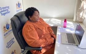 Gauteng Health MEC Nomathemba Mokgethi presented the Gauteng Health Department's budget vote at the legislature on Thursday, 17 June 2021. Picture: Gauteng Health.