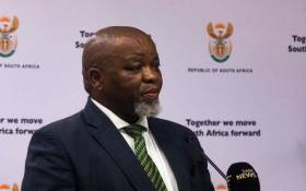 Energy and Mineral Resources Minister Gwede Mantashe at a media briefing on the coronavirus on 25 March 2020 in Pretoria. Picture: Kayleen Morgan/EWN