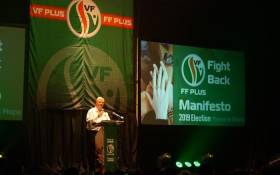 FILE: FF Plus leader Pieter Groenewald at the party's manifesto launch on Saturday, 2 March. Picture: FF Plus Facebook.