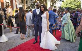 FILE: Malusi Gigaba and his former wife, Norma, on the SONA red carpet on 9 February 2017. Picture: EWN