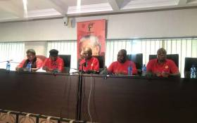 FILE: Cosatu briefing the media following its central executive committee meeting. Picture: Clement Manyathela/EWN.