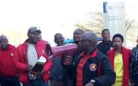 FILE: Numsa members picket outside Eskom headquarters in Johannesburg. Picture: @Numsa_Media/Twitter