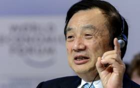 FILE: Huawei Founder and CEO Ren Zhengfei gestures as he attends a session of the World Economic Forum (WEF) annual meeting on 22 January 2015 in Davos. Picture: AFP