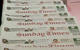Copies of the 'Sunday Times' newspaper. Picture: @SiqokoST/Twitter