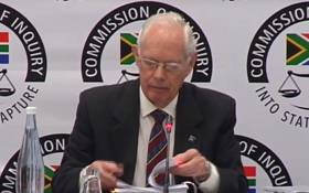 A screengrab of former Transnet strategy manager Francis Callard appearing at the Zondo commission of inquiry into state capture on 17 May 2019. Picture: YouTube