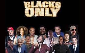 Blacks Only comedy show poster. Picture: @davidkau1/Twitter.