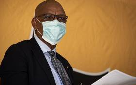 FILE: ANC spokesperson Pule Mabe at a media briefing after ANC secretary-general Ace Magashule appeared  in the Bloemfontein Magistrates Court on fraud and corruption charges on 19 February 2021. Picture: Xanderleigh Dookey Makhaza/Eyewitness News