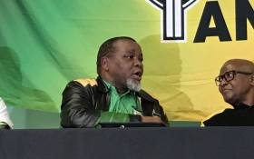 ANC chairperson Gwede Mantashe pictured at the party's  Dullah Omar Region's O.R. Tambo memorial lecture in Kalkfontein on Sunday 6 October 2019. Picture: Kevin Brandt/EWN.