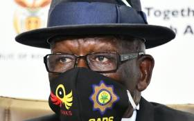 Police Minister Bheki Cele during media briefing on Crime statistics during COVID-19 lockdown in Pretoria on 22 May 2020. Picture: Twitter