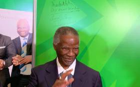 Former President Thabo Mbeki in the African National Congress (ANC) pavilion at the Rand Show. Picture: @GautengANC/Twitter