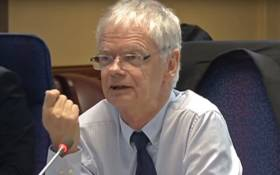 A screengrab of deputy national director of public prosecutions Willie Hofmeyr giving evidence at the Mokgoro Inquiry on 11 February 2019.
