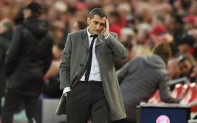 Barcelona coach Ernesto Valverde looks on during the UEFA Champions League semifinal second leg match against Liverpool at Anfield in Liverpool, England on 7 May 2019. Picture: AFP