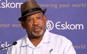 A YouTube screengrab of Eskom board chairperson Jabu Mabuza at the announcement of the power utility's interim financial results on 28 November 2019.