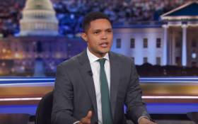 A YouTube screengrab of Trevor Noah on The Daily Show. Picture: YouTube.