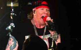 Axl Rose on stage in Johannesburg. Picture: Gia Nicolaides/EWN