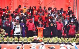 The EFF held it manifesto launch on 26 September 2021. Picture: EFF.
