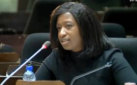 Suspended acting CEO of the Public Investment Corporation (PIC) Matshepo More. Picture: YouTube screengrab.