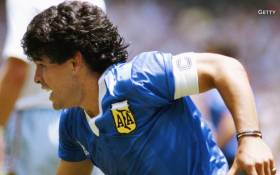 A screengrab of Diego Maradona during the 1986 World Cup.