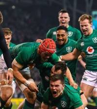Ireland celebrates victory for 'Green Giants' over All Blacks
