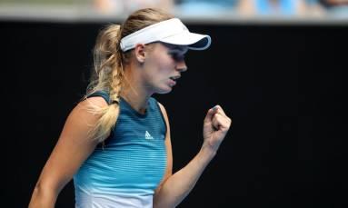Wozniacki sets up potential third-round showdown with Sharapova