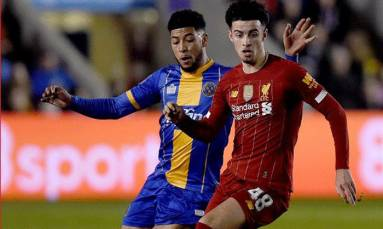 Liverpool held 2-2 at third-tier Shrewsbury in Cup