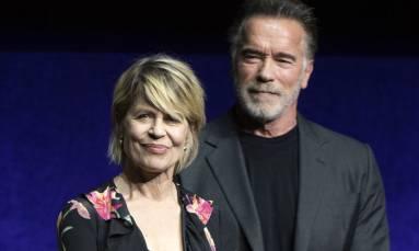 Arnie 'addicted' to 'Terminator' as original Sarah Connor returns for sequel