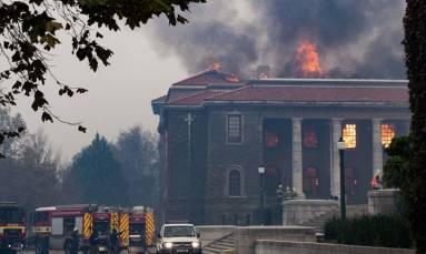 Scholars grieve loss of priceless antiquities in Cape Town fire