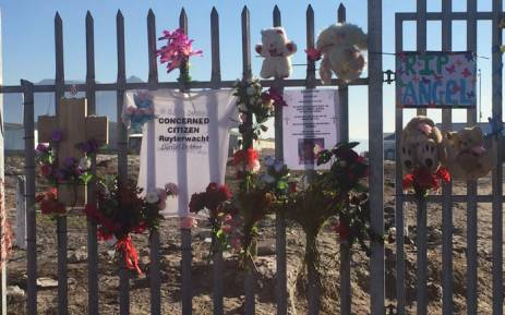 FILE: Elsies River residents remember slain three-year-old Courtney Pieters. Picture: Kevin Brandt/EWN